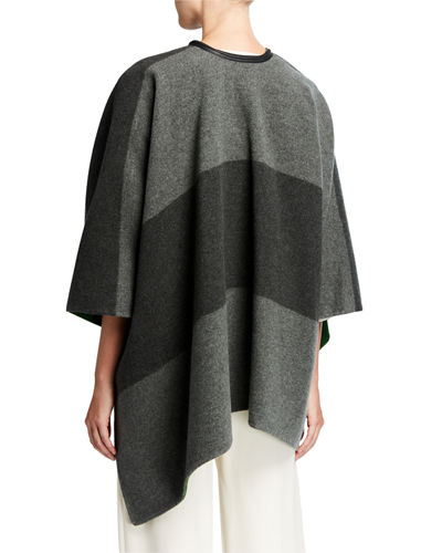 Loro Piana Mant Esme Stripes Double Cashmere Shawl