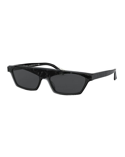 Alain Mikli Slim Rectangle Acetate Sunglasses