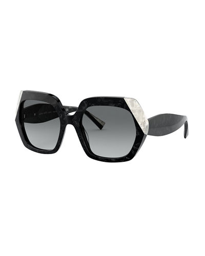 Evanne Square Acetate Sunglasses