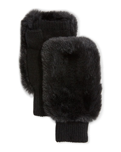 Pia Rossini Faux Fur Fingerless Gloves