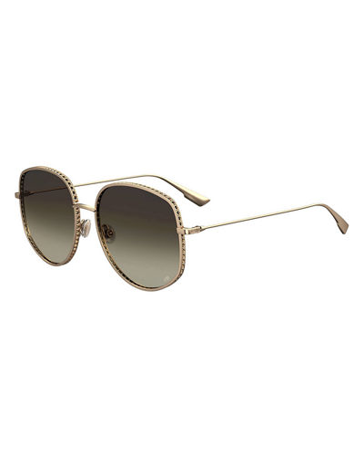 DiorbyDior2 Square Metal Sunglasses