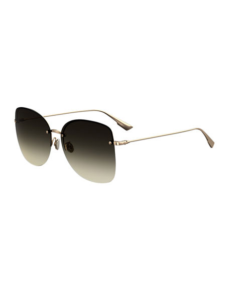 Dior DiorStellaire7 Rimless Butterfly Sunglasses