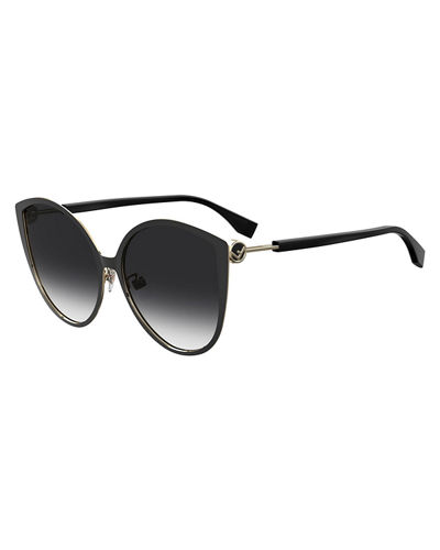 Round Gradient Stainless Steel Sunglasses