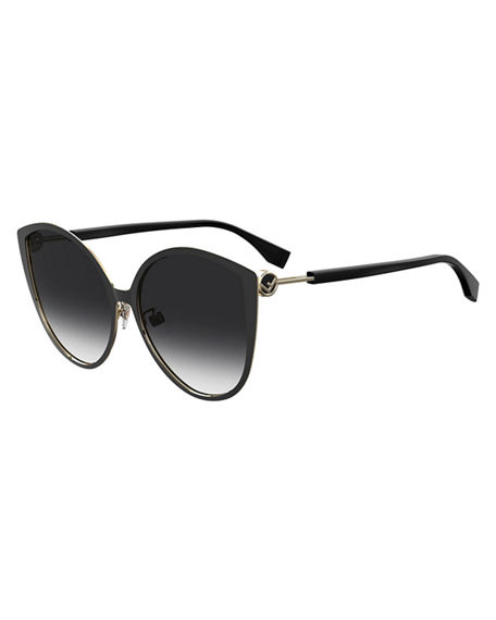 Fendi Round Gradient Stainless Steel Sunglasses