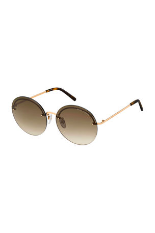 The Marc Jacobs Rimless Round Stainless Steel Sunglasses
