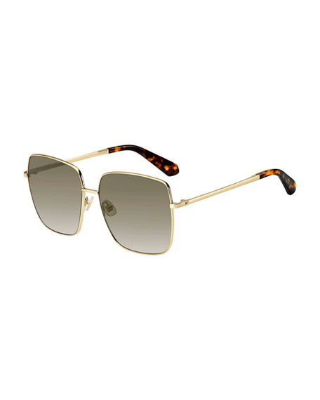 kate spade new york fentongs square stainless steel sunglasses