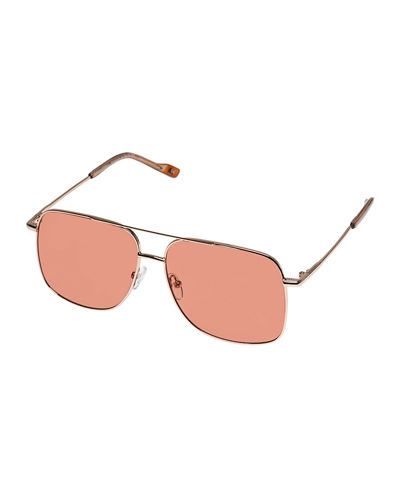 Le Specs Luxe Equilateral Aviator Metal Sunglasses