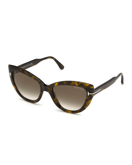 TOM FORD Anya Cat-Eye Monochromatic Sunglasses