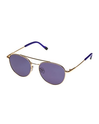 Le Specs Luxe Savage Metal Aviator Sunglasses