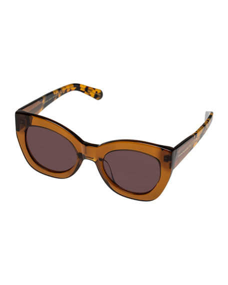 Karen Walker NORTHERN LIGHTS CHUNKY CAT-EYE SUNGLASSES