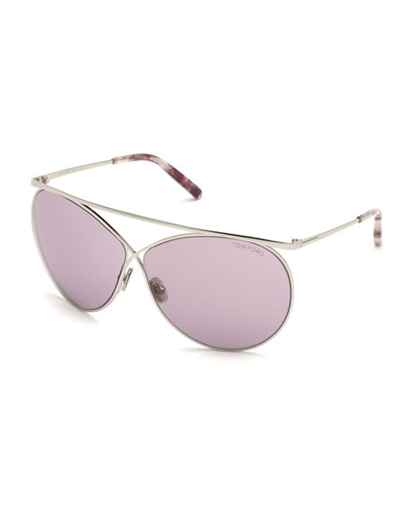 TOM FORD Stevie Metal Butterfly Sunglasses