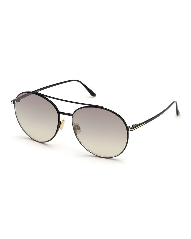 TOM FORD Round Metal Mirrored Sunglasses