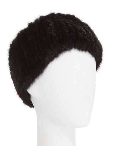 Mink Fur Knit Headband