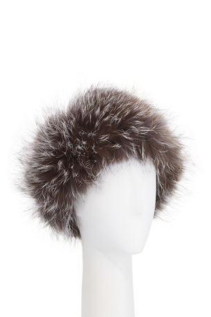 Gorski Fox Fur Knit Headband