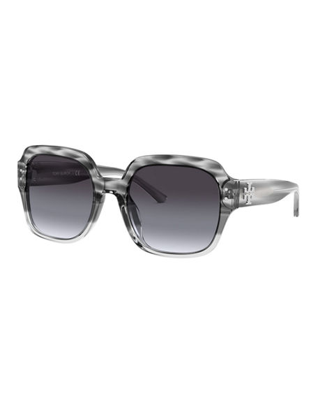 Tory Burch Gradient Square Acetate Sunglasses