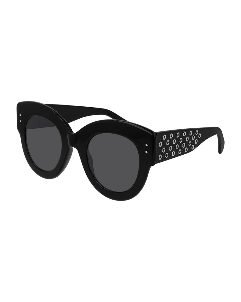 ALAIA Round Studded Acetate Sunglasses