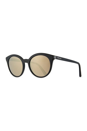 Prada Round Acetate Sunglasses