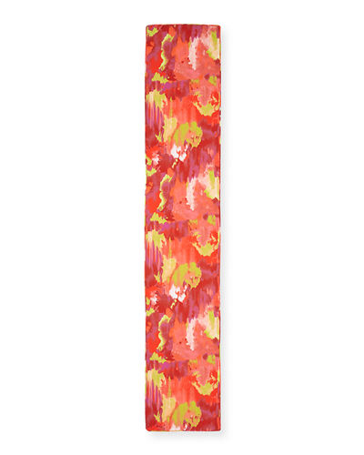 Natori Watercolor Print Scarf