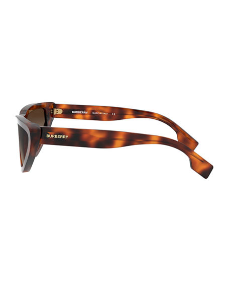 Image 3 of 3: Burberry Check Cat-Eye Acetate Sunglasses