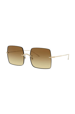 Oliver Peoples Oishe Rimless Square Sunglasses