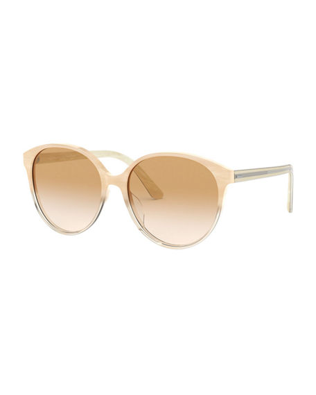 Oliver Peoples Brooktree Oval Acetate Sunglasses