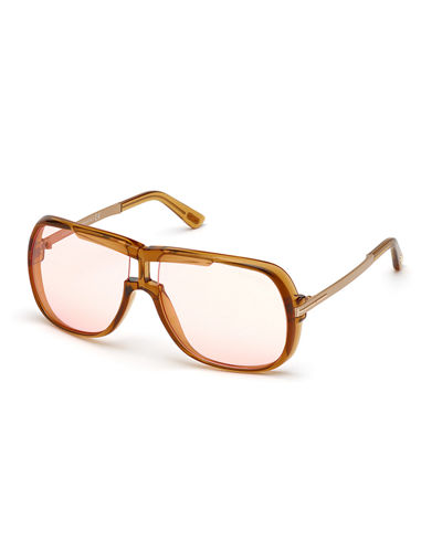 TOM FORD Caine Acetate Square Sunglasses