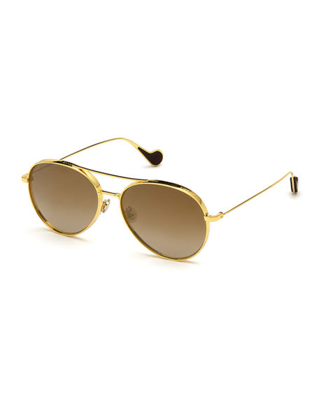 Moncler Aviator Metal Sunglasses