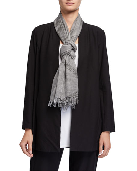 Eileen Fisher Printed Lyocell Scarf