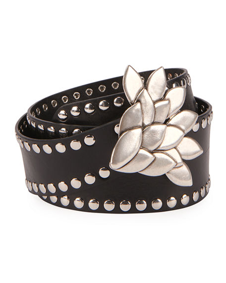 Isabel Marant Lowi Leather Studded Belt