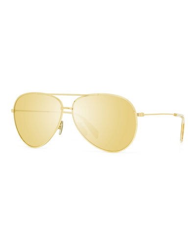 Avant Premiere Mirrored Aviator Sunglasses
