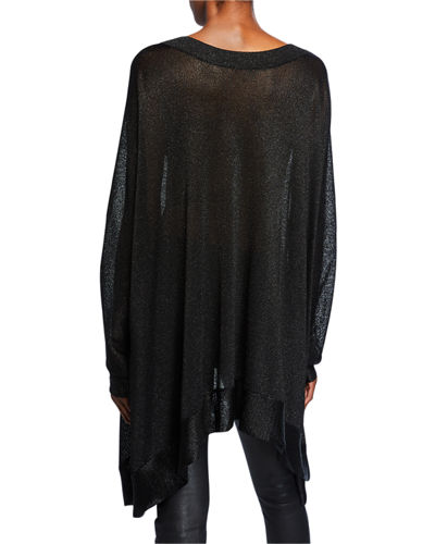 Missoni V-Neck Lurex Poncho