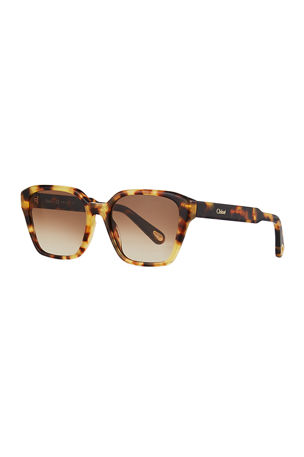 Chloe Willow Square Acetate Sunglasses