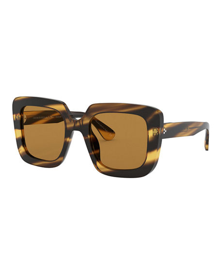 Oliver Peoples Franca Square Acetate Sunglasses