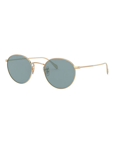 Coleridge Round Metal Aviator Sunglasses