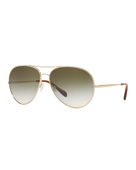Oliver Peoples Sayer Metal Aviator Sunglasses