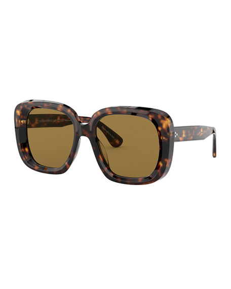 Oliver Peoples Nella Square Acetate Sunglasses