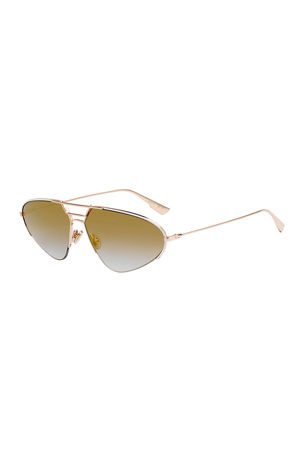 Dior DiorStellaire5 Oval Metal Sunglasses