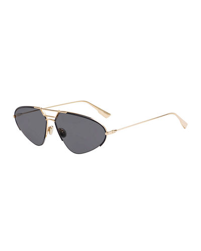 DiorStellaire5 Oval Metal Sunglasses