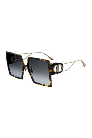 Dior 30Montaigne Square Sunglasses w/ Cutout Arms