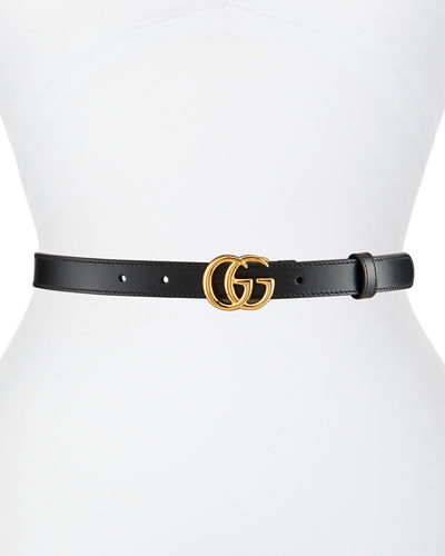 GG Marmont 2cm Leather Belt