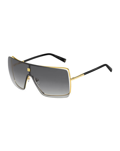Givenchy Semi-Rimless Shield Sunglasses