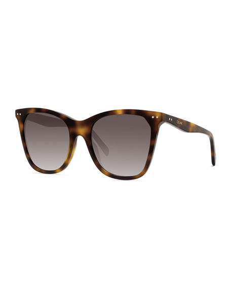 Celine Cat-Eye Monochromatic Acetate Sunglasses