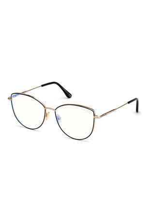 TOM FORD Cat-Eye Metal Optical Frames