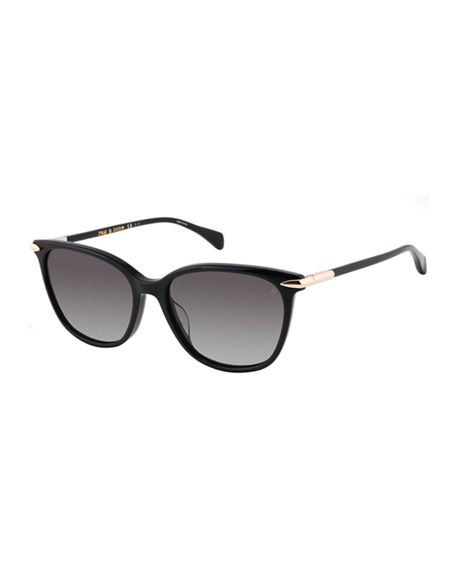 Rag & Bone Rectangle Acetate Sunglasses