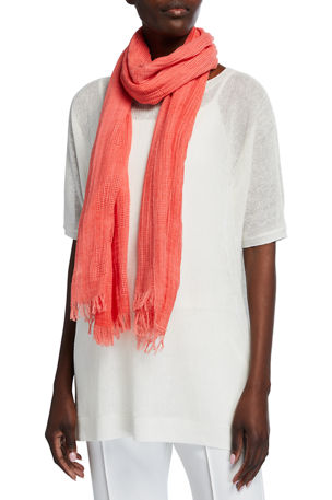 Eileen Fisher Organic Cotton Mesh Square Scarf