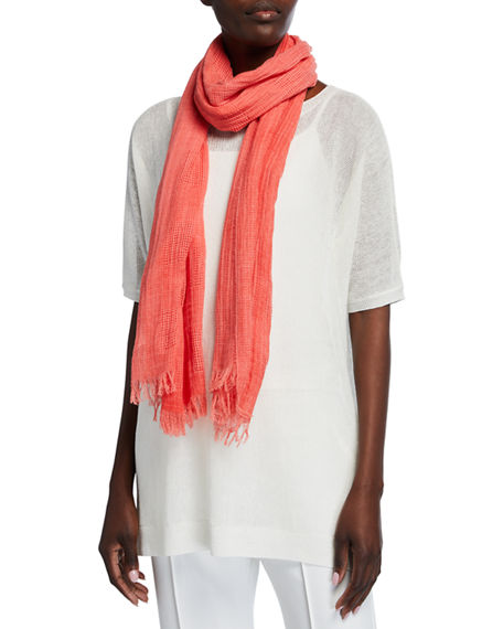 Image 1 of 2: Eileen Fisher Organic Cotton Mesh Square Scarf