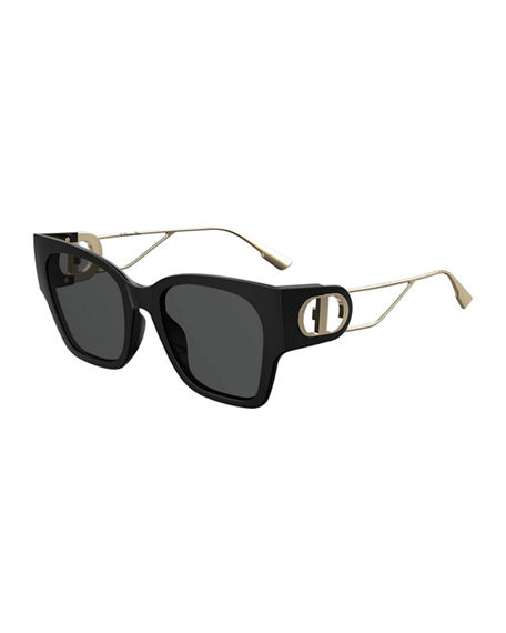 Dior 30Montaigne1 Square Sunglasses w/ Cutout Arms