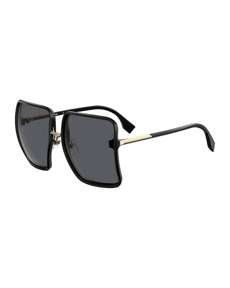 Fendi Square Grilamid Nylon Sunglasses