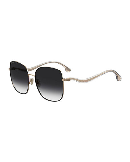 Jimmy Choo Mamies Square Glitter Arm Sunglasses