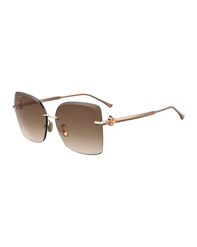 Jimmy Choo Corings Rimless Square Sunglasses